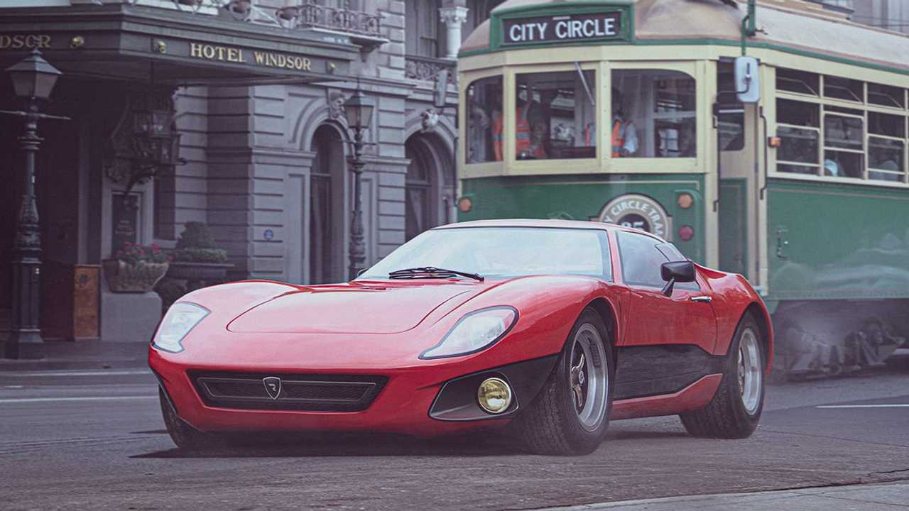Rimac Concept One if it was designed in the 1960s