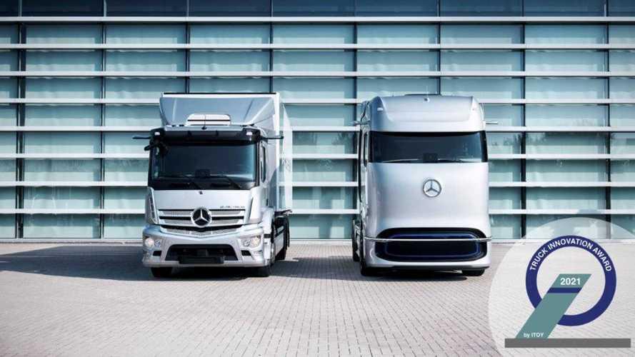 Di Mercedes i Camion dell'Anno Elettrici 2021, eAcrtros e GenH2 Truck