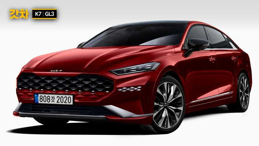Kia Cadenza Facelift Rendered With New Logo Based On Spy Shots