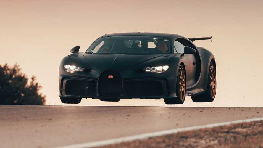 La Bugatti Chiron Pur Sport prend de la hauteur sur la piste de Nardò