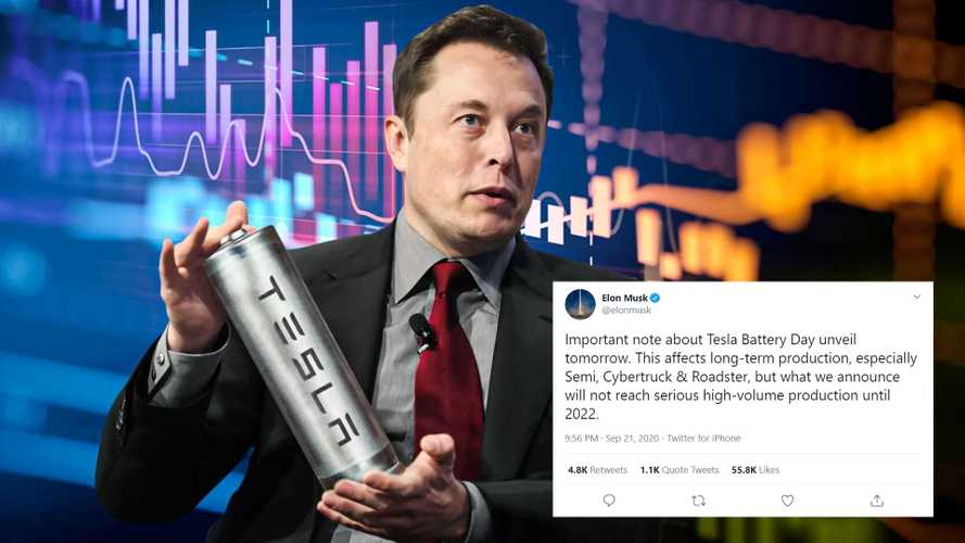 Tesla Battery Day Disclaimer: Musk Warns It Aims