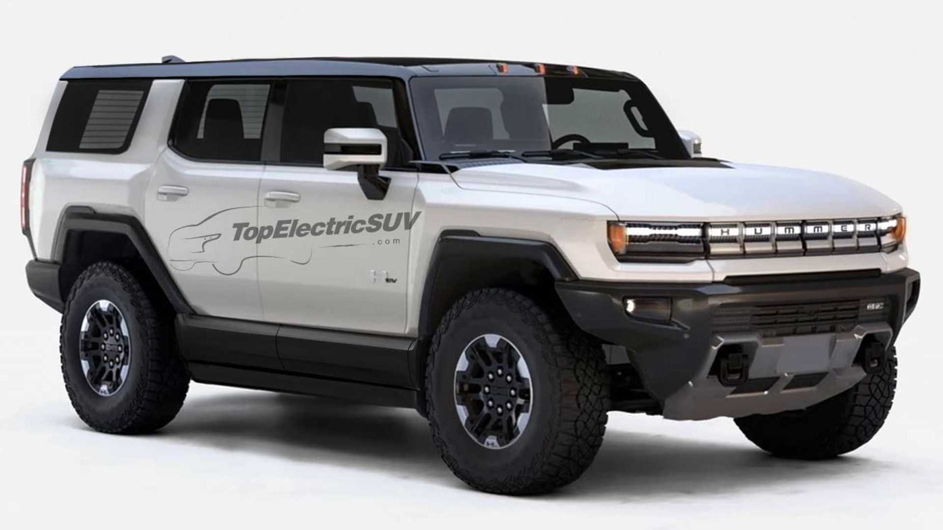 Gmc Hummer Ev Suv Rendering Shows The Lineup S Rugged Future