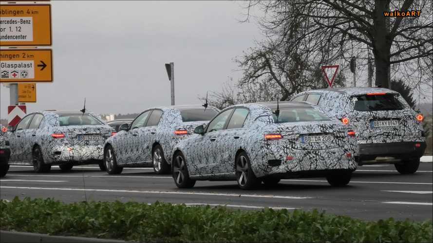 Next Mercedes C-Class Spotted Testing With Its GLC SUV Buddy