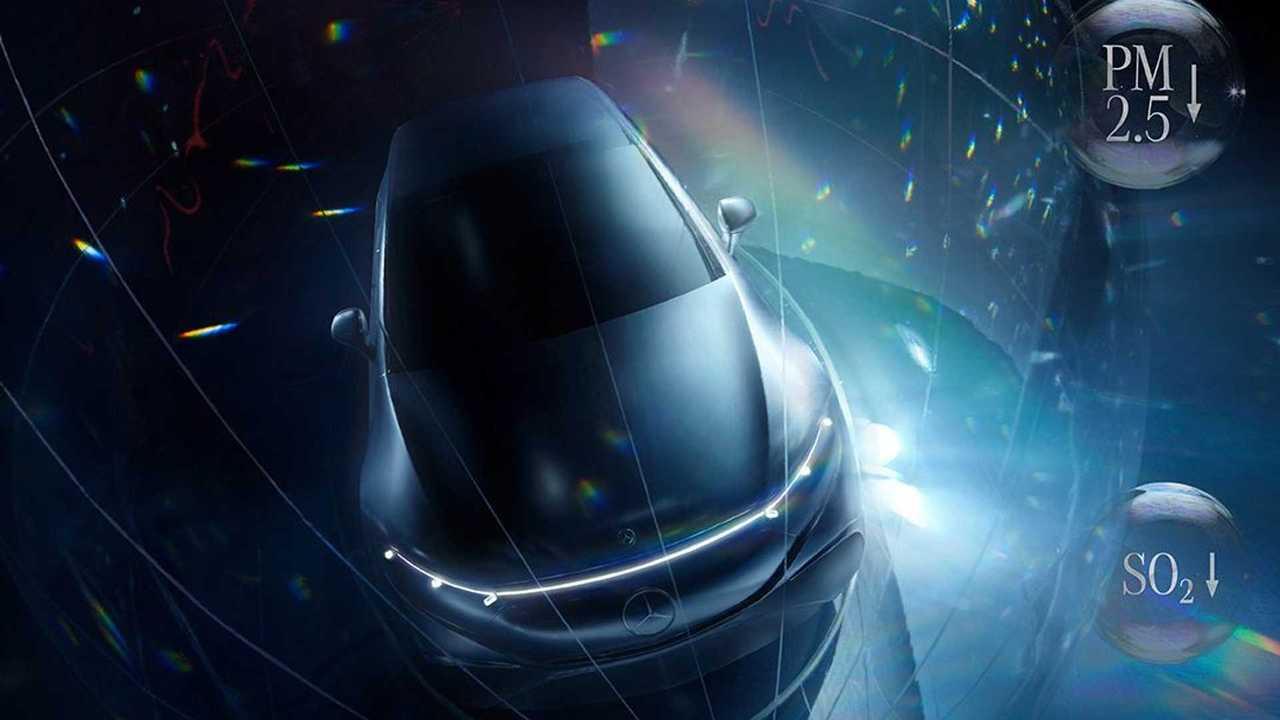 Mercedes-Benz EQS Teaser Colorful