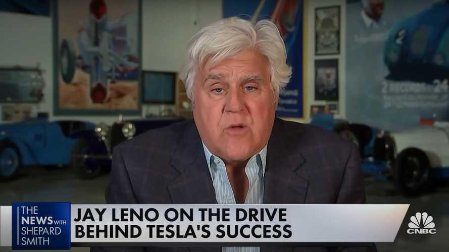 Jay Leno discusses the key to Tesla's success, sings Elon Musk's praises