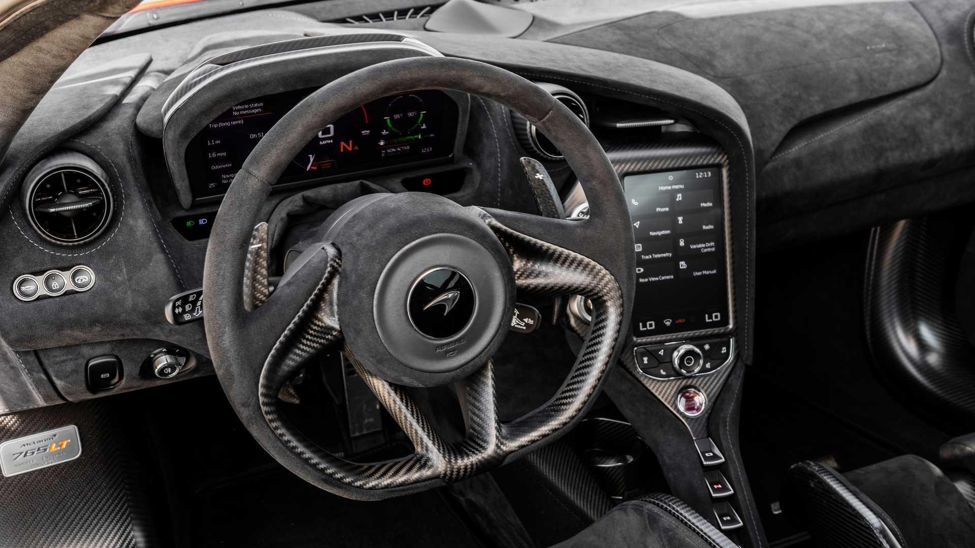 2021 McLaren 765LT cockpit