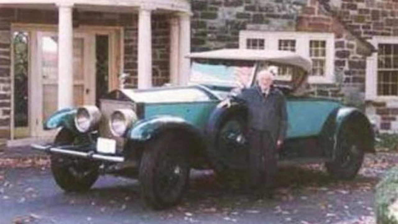 M. Allen Swift with the 1928 Rolls Royce Picadilly P1 Roadster