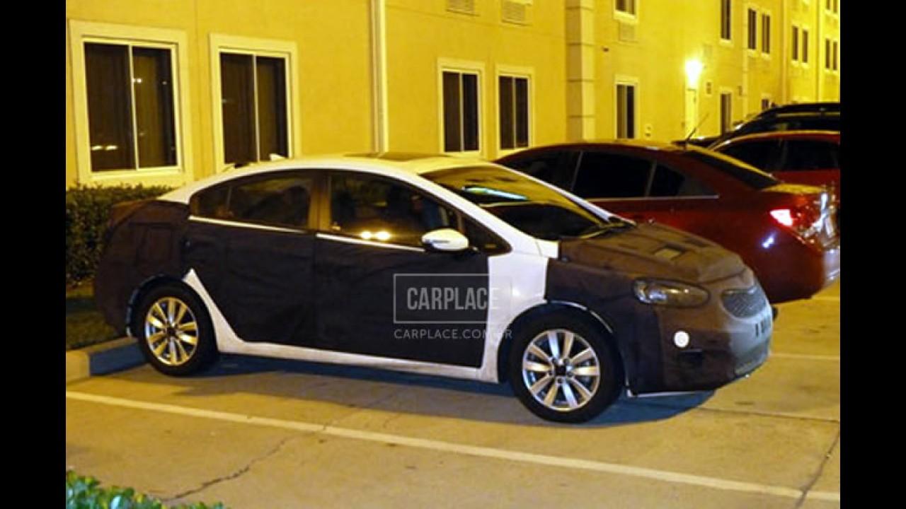 Novo Kia Cerato 2013 está quase pronto na China - Visual ficará mais