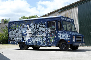 The Infamous 'SWAT Van' of Graffiti Artist Banksy is Up For Sale