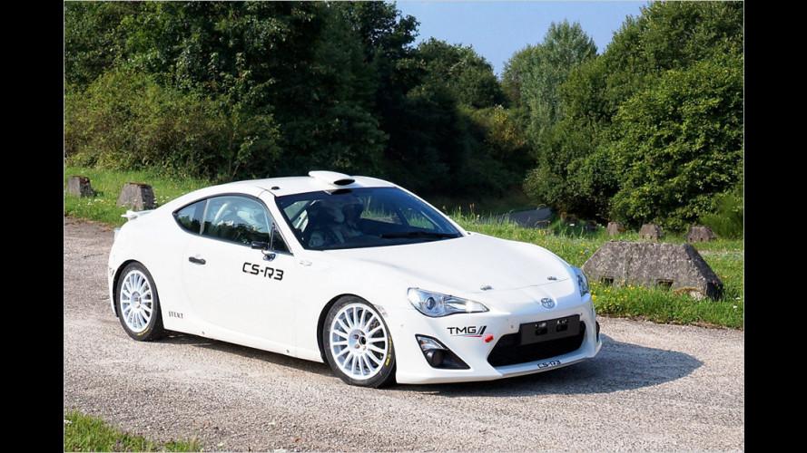 Toyota GT86 testet bei der Rallye Deutschland