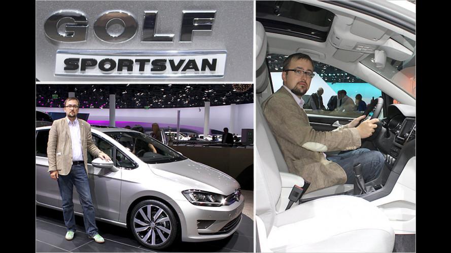 Erste Sitzprobe im VW Golf Sportsvan
