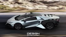 Lamborghini Forsennato Hypercar Rendering