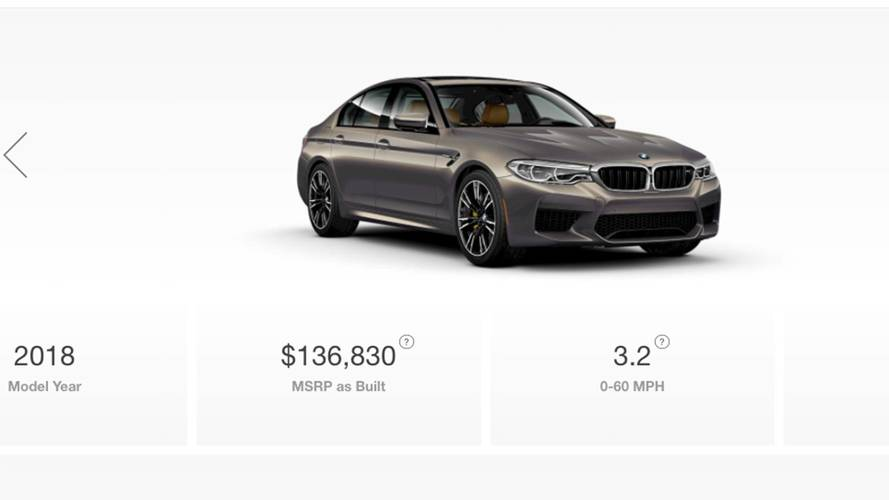 2018 BMW M5 Configurator