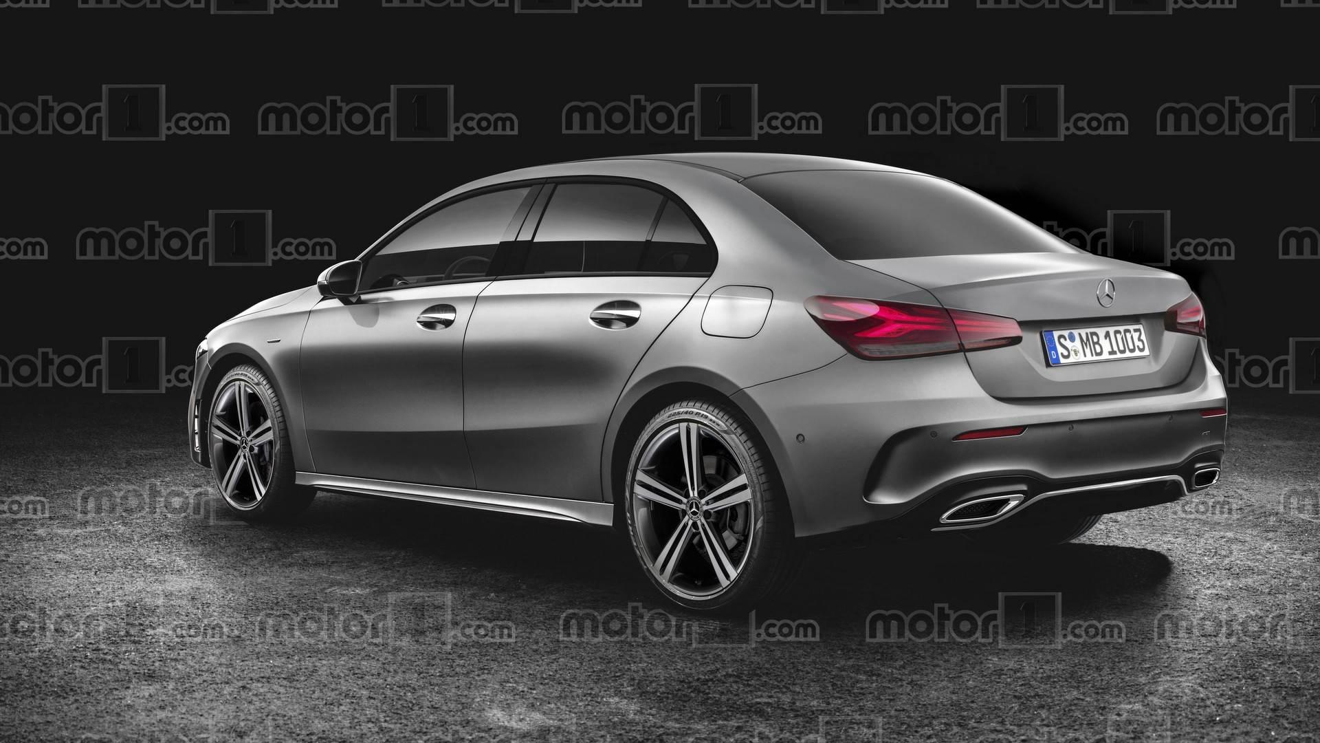 Inedito Mercedes Classe A Sedan Ficara Mais Ou Menos Assim