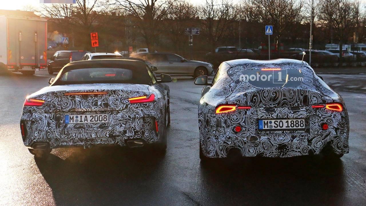 BMW Z4 And Toyota Supra Spy Shot