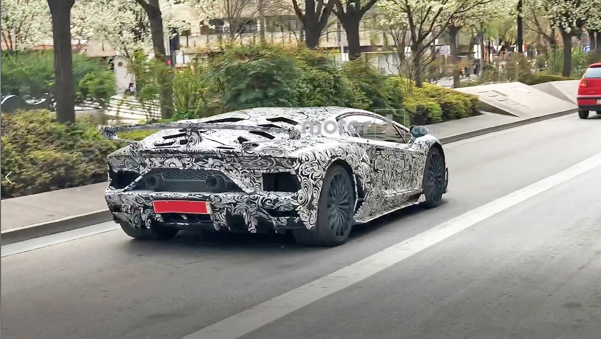 Lamborghini Aventador Svj Spied With Big Exhaust Bigger Wing