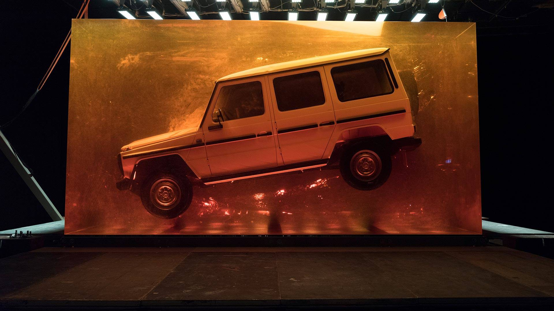 Jurassic Suv Mercedes Embeds 1979 G Class In Giant Block Of Resin