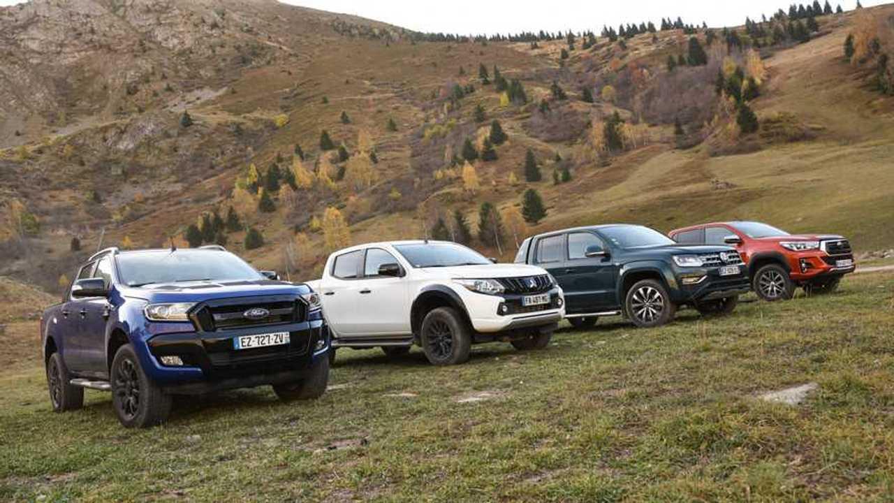 Pick-up dans les Alpes