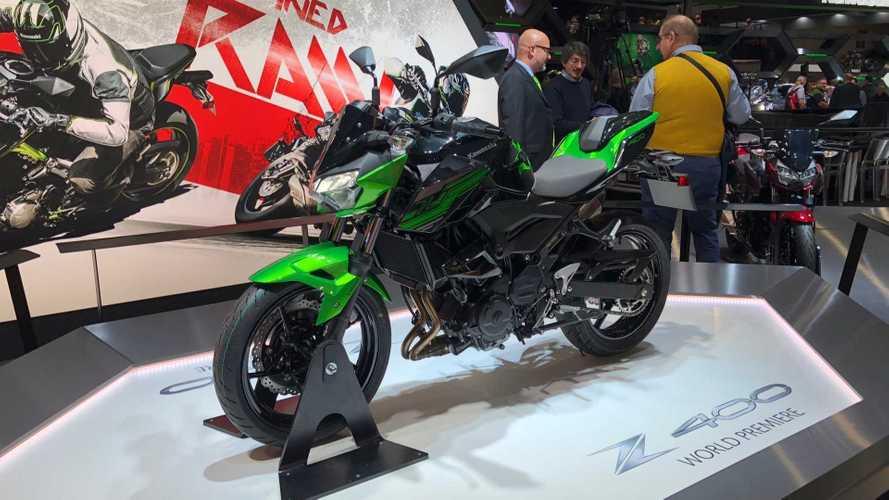 Salão de Milão: Kawasaki faz estreia da Z400 e da nova Versys 1000