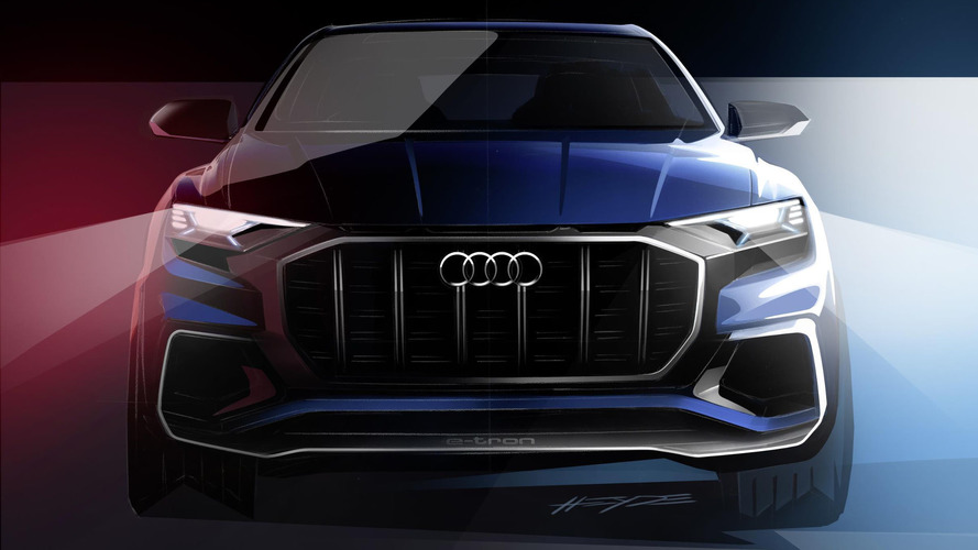Audi Q8 E-tron concept teased ahead of Detroit debut