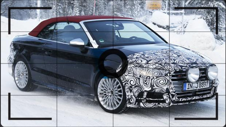 Audi S3 Cabrio, le foto spia del restyling