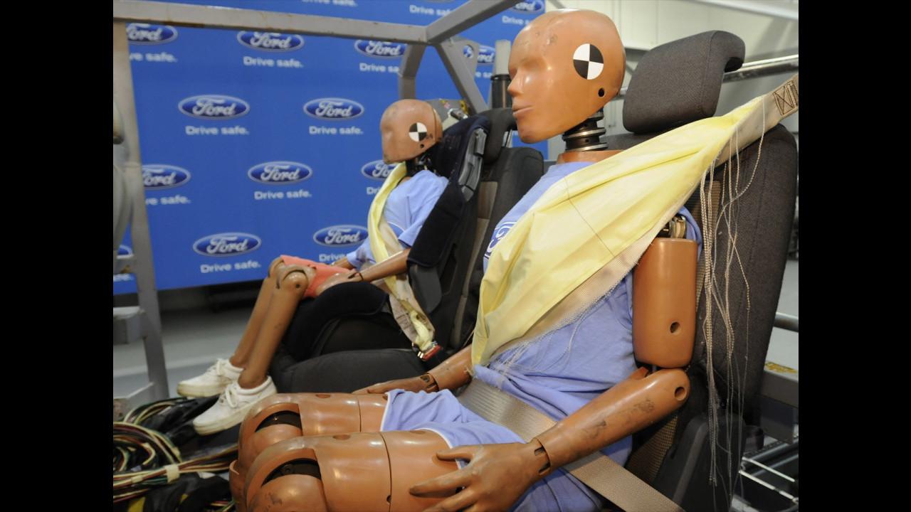 Le cinture di sicurezza gonfiabili di Ford