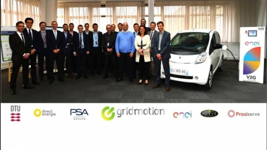 GridMotion, l'auto elettrica prende e dà energia
