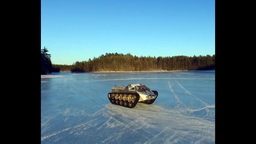 Ripsaw EV2, il cingolato sul ghiaccio come Carolina Kostner [VIDEO]
