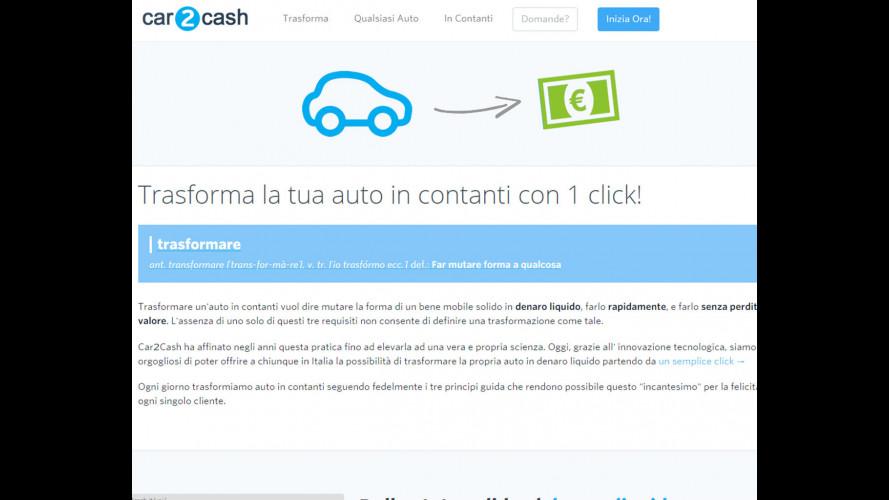Car2Cash, l'auto si trasforma in (non molto) denaro contante