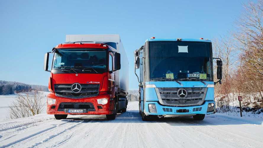 Mercedes eActros ed eEconic, superata la prova del ghiaccio