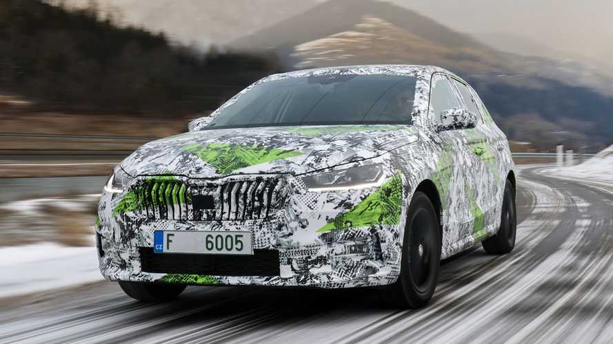 2021 Skoda Fabia official images of camouflaged prototypes