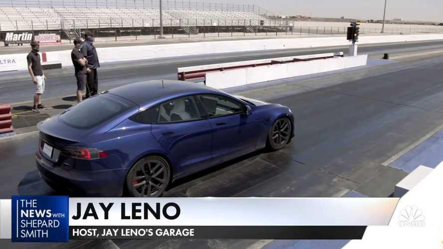 Jay Leno Shares His Thoughts On Tesla Model S Plaid Record