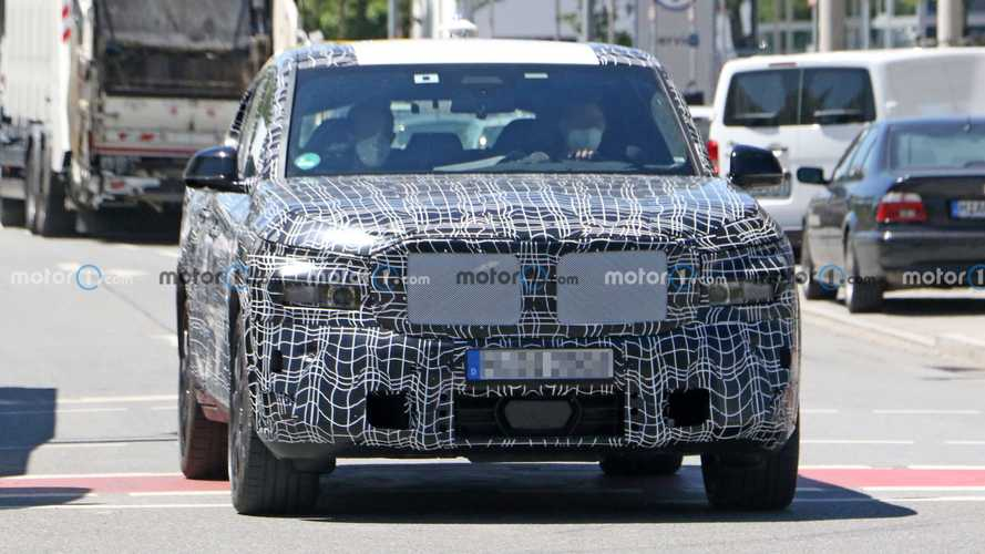 2023 BMW X8 Spied With Unusual Stacked Exhausts
