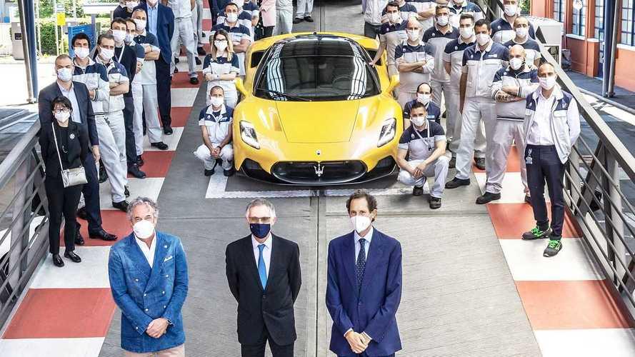 Top Management Stellantis alla sede Maserati di Modena
