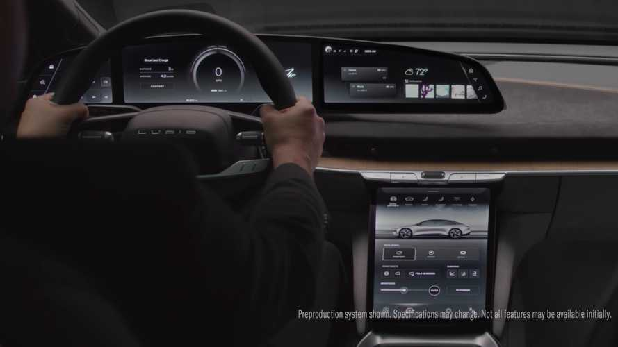 Lucid Air shows off its high-tech interior, adaptable user experience