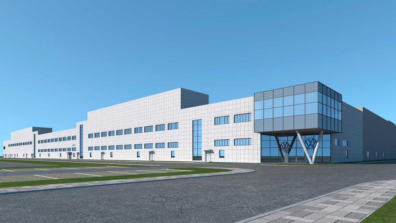 Rendering of Volkswagen Anhui MEB plant technical center.