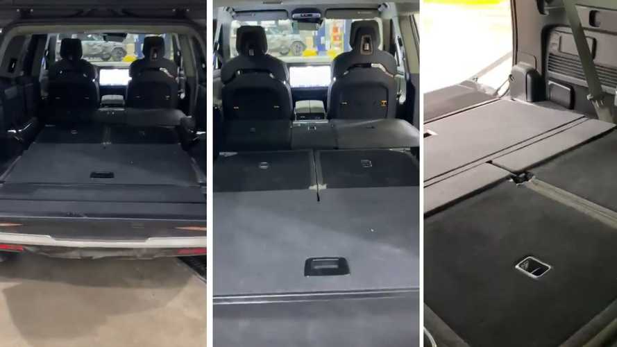 See The Rivian R1S Electric SUV With Seats Folded Down