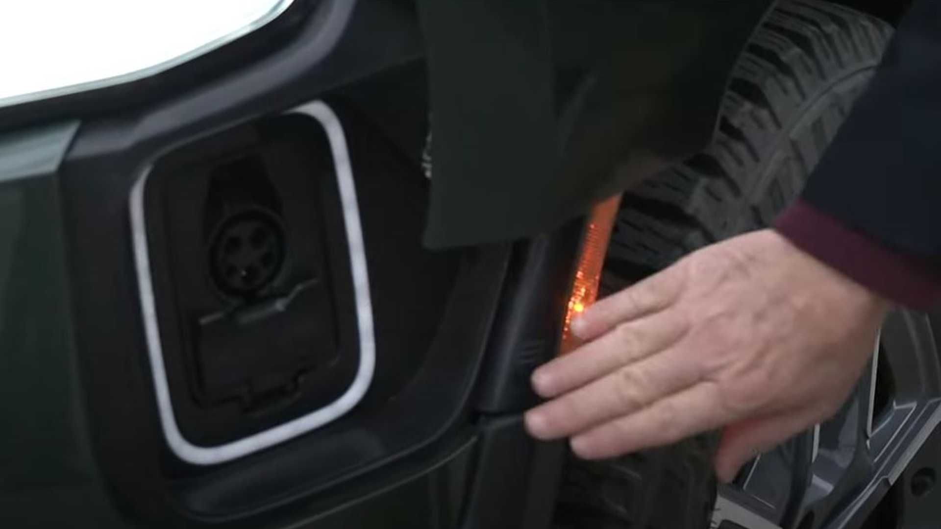 Rivian R1T Electric Truck On Display, See How Its Charging Port Opens