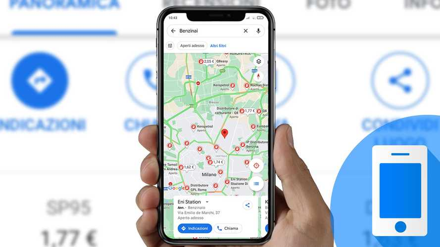 Come cercare i benzinai più convenienti con l'app Google Maps