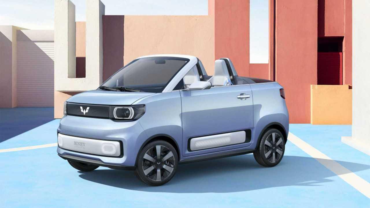 Das Wuling Hongguang Mini EV Cabriolet wird zum FreZe Froggy