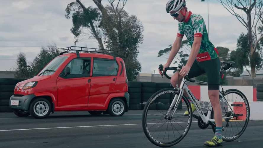 Coche barato frente a bicicleta, ¿cuál es más rápido?