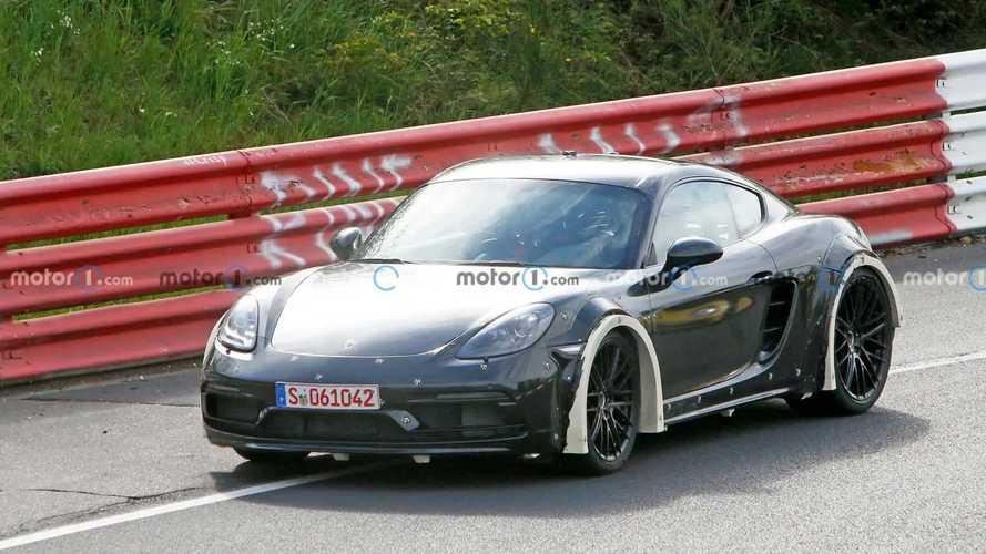 Porsche Cayman Widebody Test Mule Spy Photos