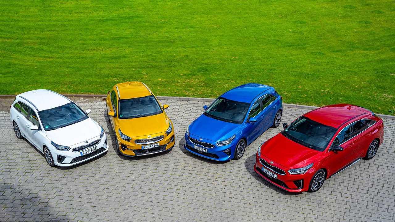 Kia Ceed-Modellfamilie mit neuem Turbobenziner und mehr Mildhybrid