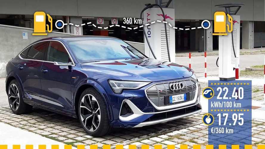 Audi e-tron S Sportback, la prova dei consumi reali
