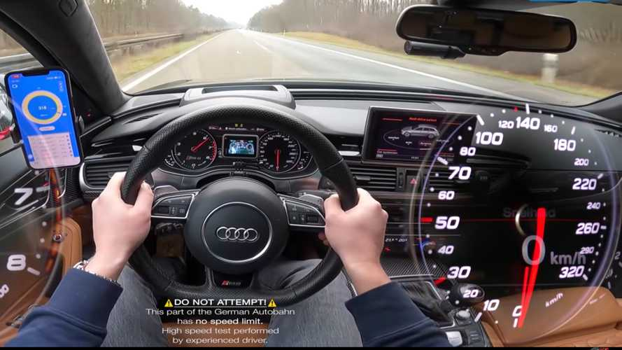 Audi RS6 speedometer can't handle the Autobahn, goes back to 0