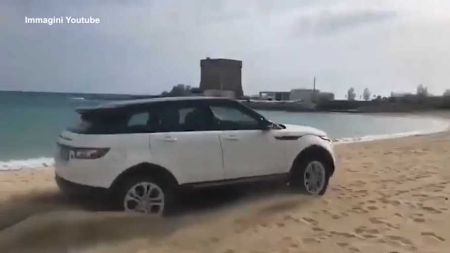 Range Rover Evoque caught driving on beach gets £2,000 fine
