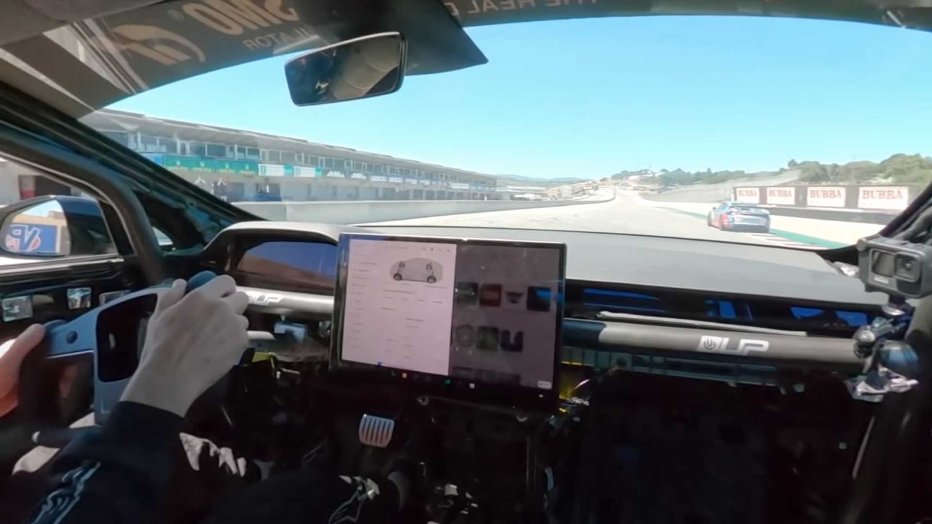 Watch Randy Pobst Go Over 150 MPH In A Tesla Model S Plaid