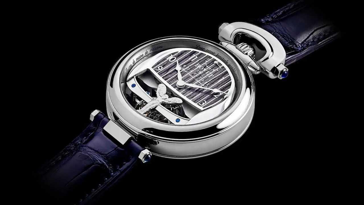 Jam tangan desain Rolls-Royce dan Bovet 1822 untuk model Boat Tail eksklusif.