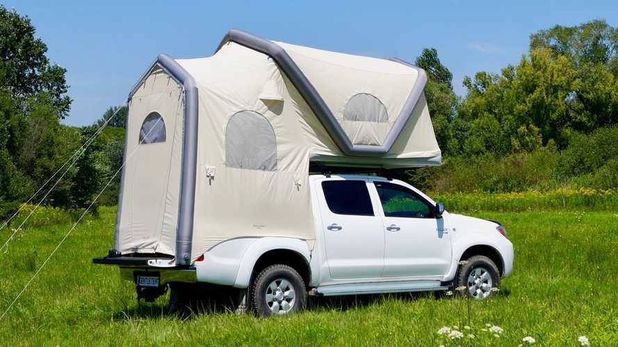 Compact Inflatable Rooftop Tent Provides Spacious Interior