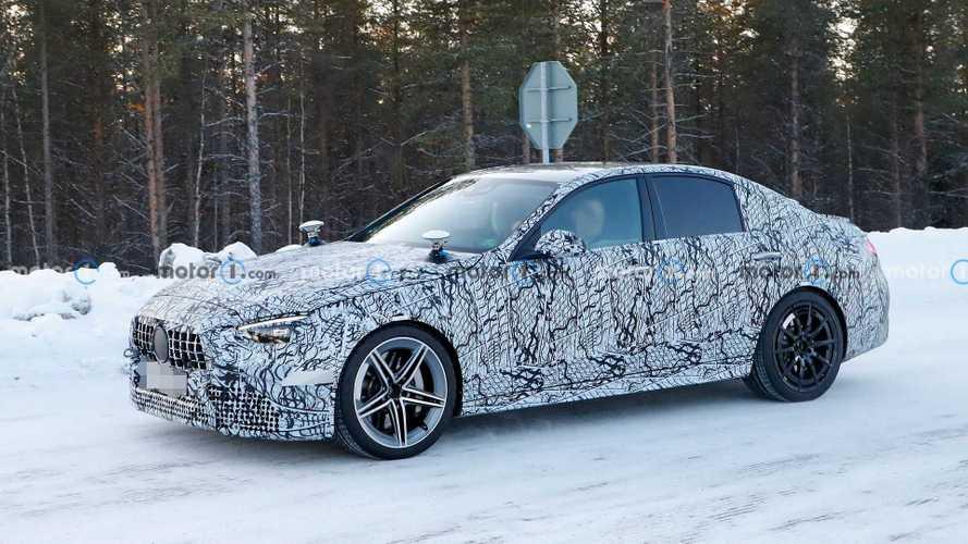 2021 Mercedes-AMG C63, soğuk hava testinde görüntülendi